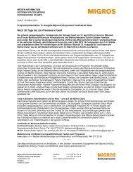 Medienmitteilung Steps Deutsch