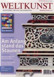 Weltkunst August 2008 - Kunstkammer Georg Laue