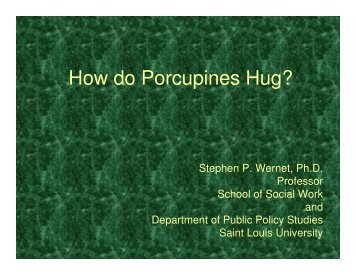 How do Porcupines Hug? - Lutheran Services in America