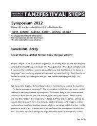 Presentation Carloleinda Dickey: Local themes, global forms - Steps