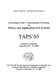 Proceedings of the First International Workshop on Theory and ...