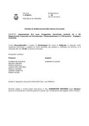Delibera Giunta Comunale n. 29 - Comune di Argenta