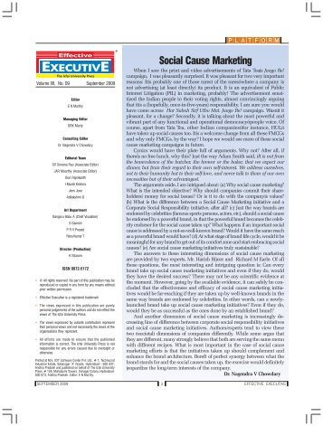 Social Cause Marketing - The Regis Group Inc