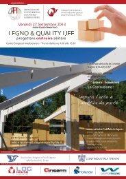 LEGNO E QUALITY LIFE LOCANDINA pubblicità ... - WebAlbo 2013