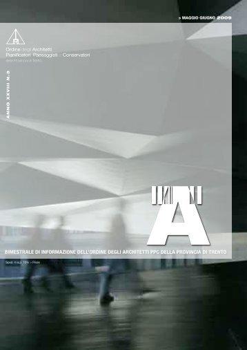 BIMESTRALE DI INFORMAZIONE DELL'ORDINE - Ordine architetti ...