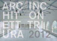 ARCHITETTURA INCONTRI 03 - Ordine architetti, pianificatori ...