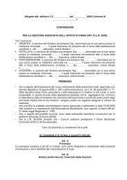 Convenzione tra i Comuni - Comune di Argenta