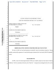 Order Granting Preliminary Injunction - Forest Service Employees for ...