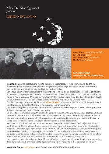 Max De Aloe Quartet presenta
