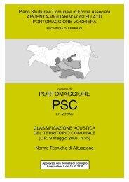 Norme Tecniche di Attuazione - Comune di Portomaggiore