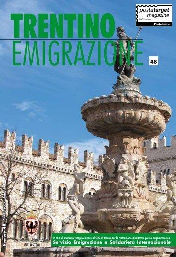 Trentino Emigrazione - Ufficio Stampa - Provincia autonoma di Trento