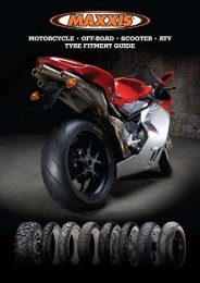 Motorcycle Fitment Guide - Maxxis Tyres