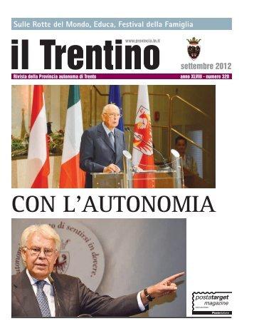 Numero 320 - Provincia autonoma di Trento - Ufficio Stampa