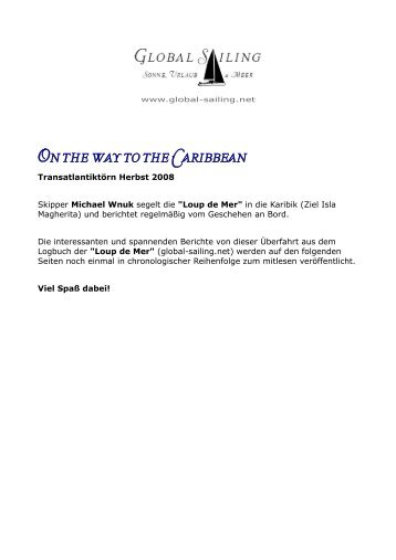 On the way to the Caribbean.pdf - Global Sailing