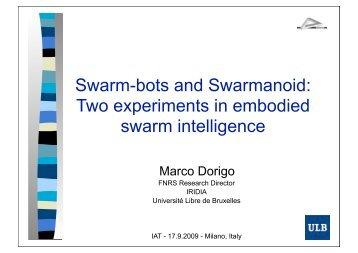 Swarm-bots and Swarmanoid - Web Intelligence Consortium