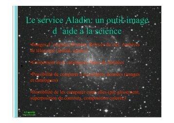 Le service Aladin: un outil-image d 'aide à la science
