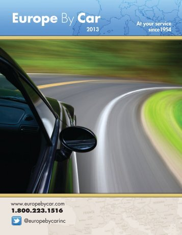 www.europebycar.com 1.800.223.1516 @europebycarinc 2013 At ...