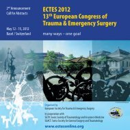 ECTES 2012 13th European Congress of Trauma & Emergency ...