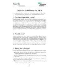 Guideline Aufklärung der fmCh
