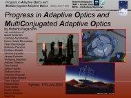 MultiConjugated Adaptive Optics