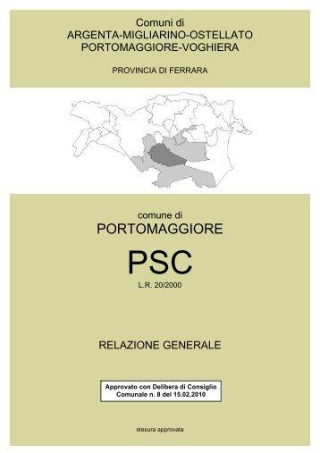Relazione Generale - Comune di Portomaggiore