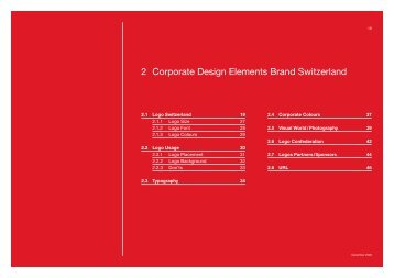 2 Corporate Design Elements Brand Switzerland