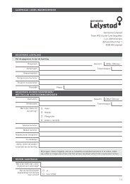 Aanvraagformulier leerlingenvervoer - Gemeente Lelystad
