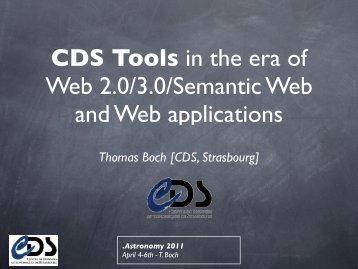 Thomas Boch [CDS, Strasbourg] - Centre de Données ...