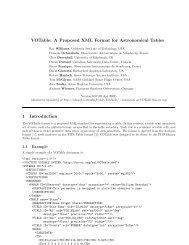 VOTable: A Proposed XML Format for Astronomical Tables 1 ...