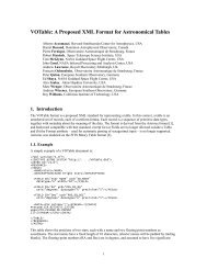 VOTable: A Proposed XML Format for Astronomical Tables