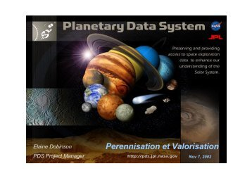 The Planetary Data System: Challenges and Solutions