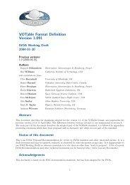 VOTable Format Definition Version 1.091 - Centre de Données ...