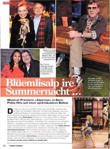 Schweizer Illustrierte - Alperose- das Musical