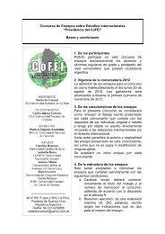 Concurso de Ensayos sobre Estudios Internacionales ... - cofei
