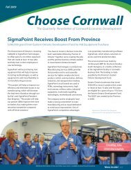 SigmaPoint Receives Boost From Province - Choose Cornwall