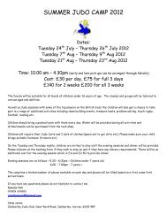 HALF TERM JUDO SESSIONS - Camberley Judo Club
