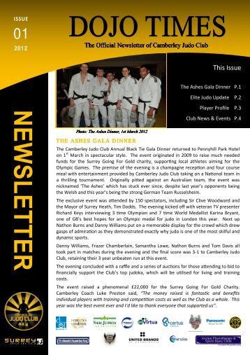 CJC Newsletter 1 - Camberley Judo Club