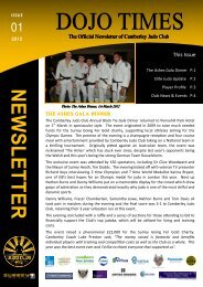 Download The Dojo Times Issue 01 here - Camberley Judo Club