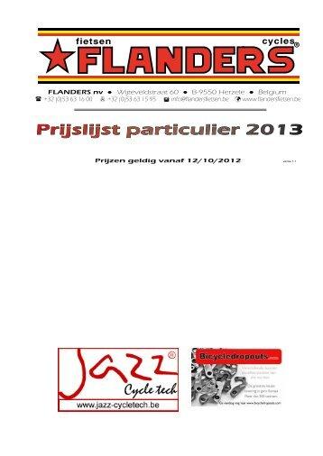 Prijslijst Fietsen - Flanders