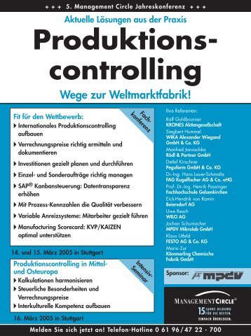 Produktions- controlling - MPDV Mikrolab GmbH