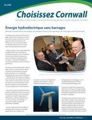 HydroPo Énergie hydroélectrique sans barrages - Choose Cornwall