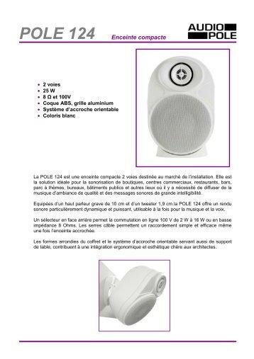 POLE 124 Enceinte compacte - Audiopole