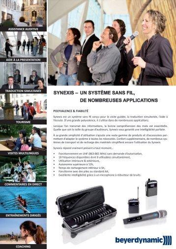 synexis – de nombreuses applications un système sans fil - Audiopole