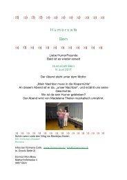 Humorcafé Monbijou Juni 11