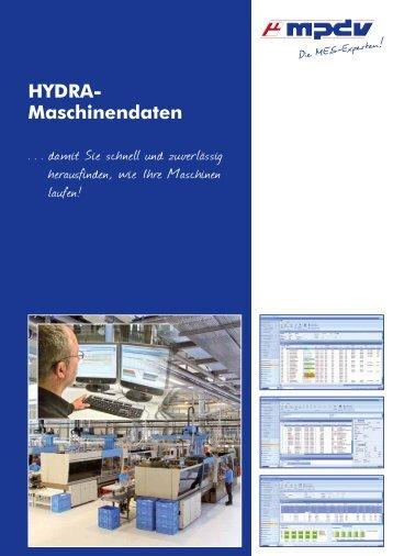 HYDRA- Maschinendaten - MPDV Mikrolab GmbH