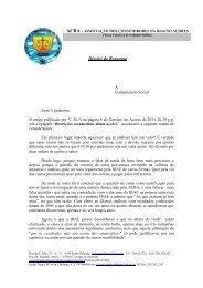 Direito de Resposta - ACRA