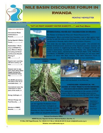 Read NBDF Newsletter Issue N. 4 - NBDF Rwanda