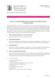 PELVIC FLOOR REPAIR AND VAGINAL HYSTERECTOMY FOR ...