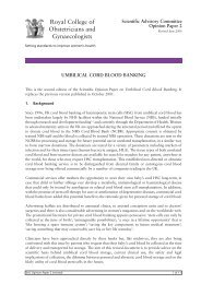 Umbilical cord blood banking SAC opinion paper