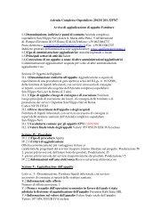 Avviso aggiudicazione di appalto forniture - Azienda Complesso ...